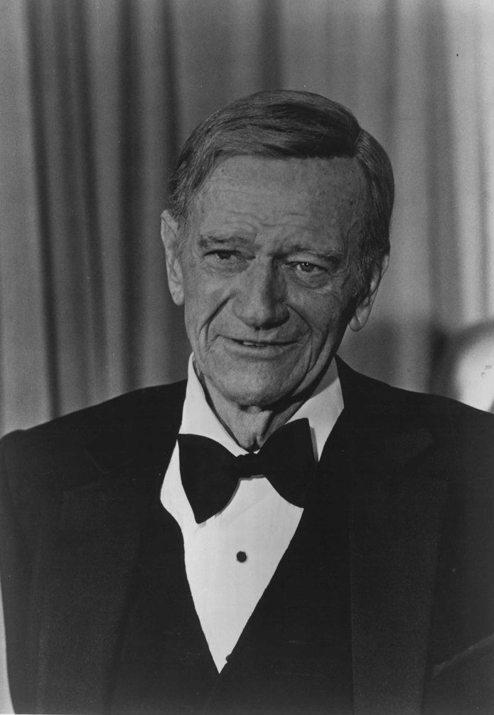 The Duke on his last public appearance : on the April 9, 1979 Academy Awards.