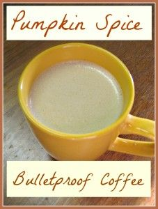 pumpkin spice bulletproof coffee  S