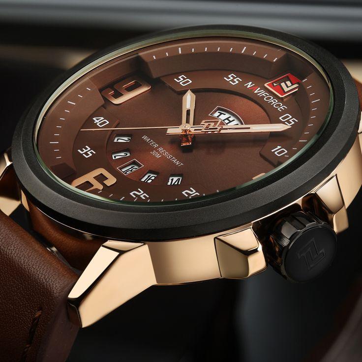 Luxury Sports Watch Leather Quartz-watch Waterproof for Men //Price: $42.99 & FREE Shipping //     #design