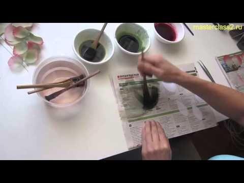 Видео с нового курса: Окраска подклейки и листиков