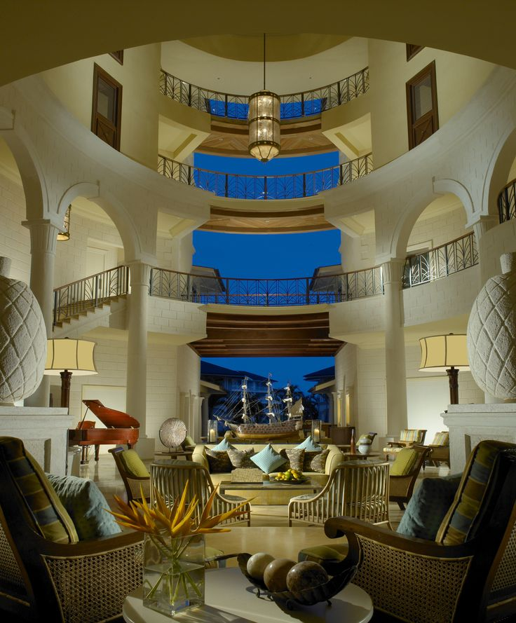Caribbean luxury resort - The Landings St Lucia lobby
