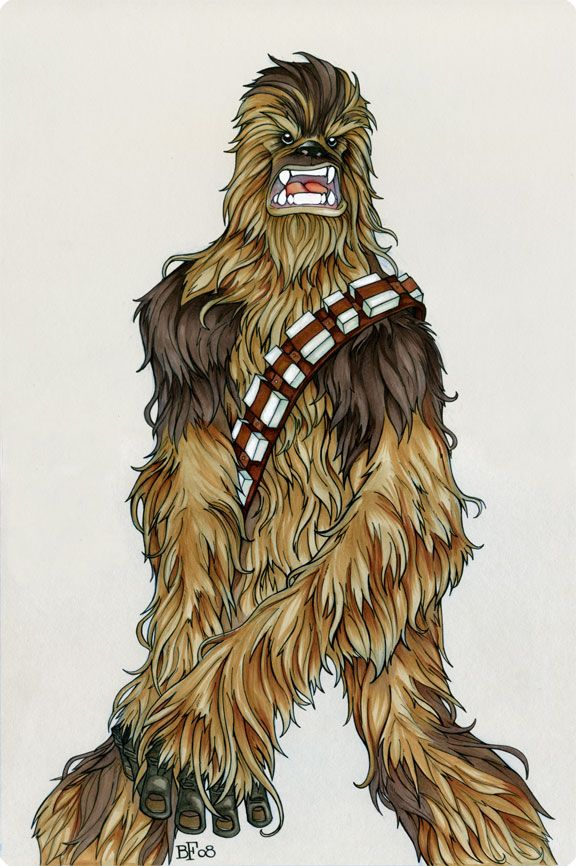 how to draw star wars chewbacca