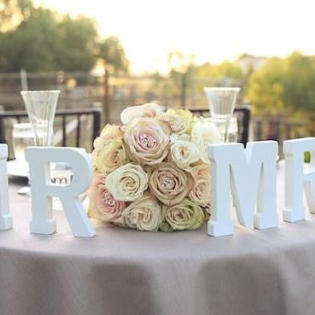 love the lettersmaybe bride and groomdecorated with