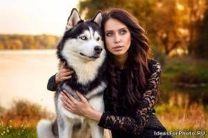 Фотосессия с собакой хаски - Лучшие идеи для фотосессий