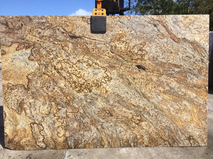 #Arandisdream Granite beautiful #naturalstone with combination gold, black, and beige with a gold background, perfect #granitecountertops for the light #kitchencabinet and #kitchenisland.