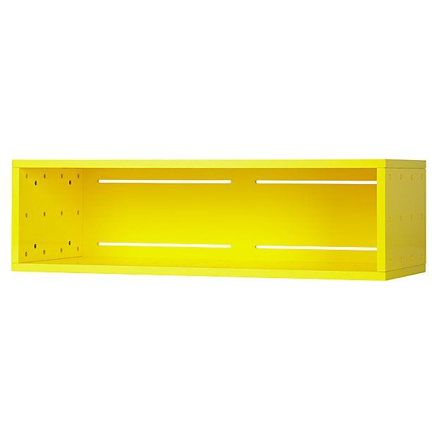 Large Cubby Narrow Wall Shelf (Yellow) | The Land of Nod