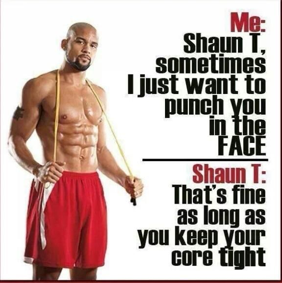 LOLs of T25 and Insanity Max:30 with Shaun T
