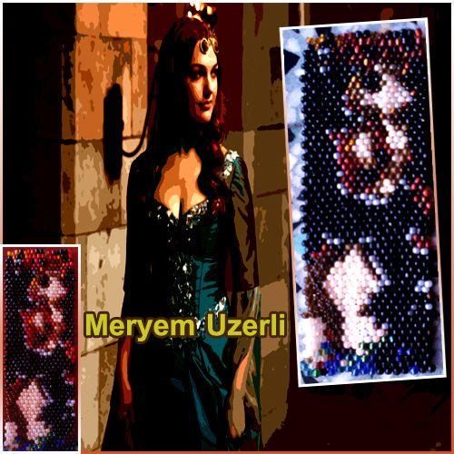 Meryem Uzerli  My design beaded by me السلطانة هيام