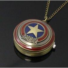 Bosszúállók - Amerika kapitány óra nyaklánc Marvel