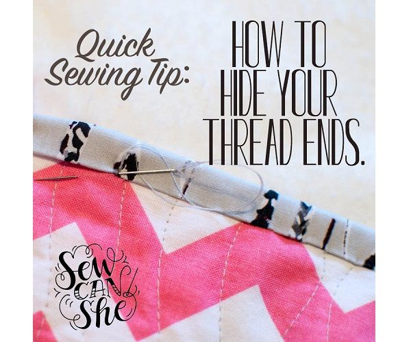 Craft Gossip - http://sewing.craftgossip.com/tutorial-how-to-hide-thread-ends-when-sewing-by-hand/2016/01/25/