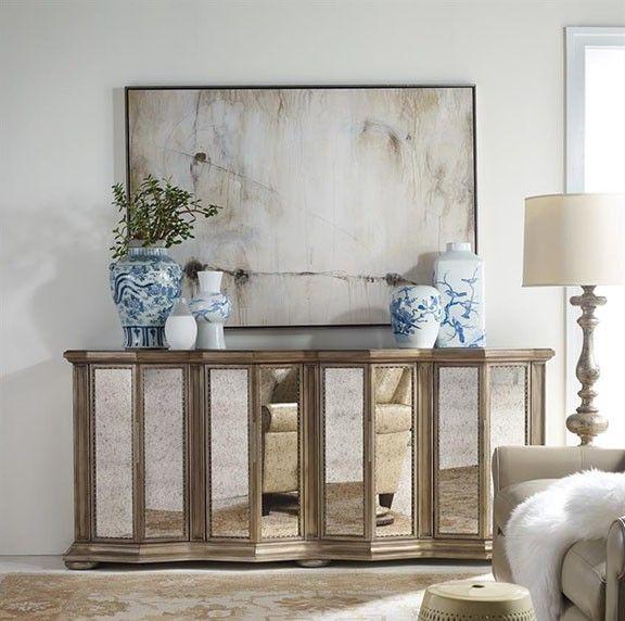 furniture britt mirrored furniture hooker furniture living room