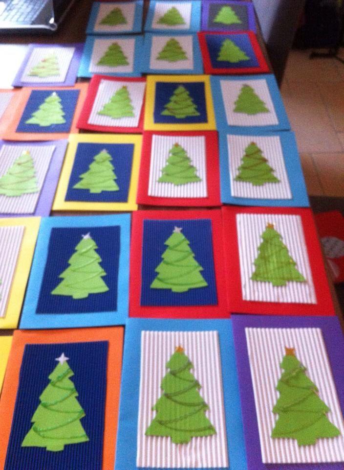 Nieuwjaarsbrief - kerstboom  - glitterlijm