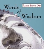 In Words of Wisdom, Lama Surya Das expresses his deep understanding and highy nuanced sense of humor in a collection of wisdom sayings.