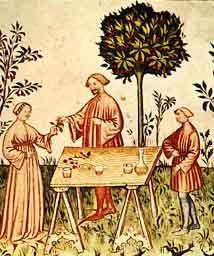 Il primo ricettario di autore certo è il Libro de Arte Coquinaria , che Martino de' Rossi, detto maestro Martino da Como, compila tra il 1464 ed il 1465. De' Rossi, ticinese, lavora per Francesco Sforza, per il patriarca di Aquileia, per Gian Giacomo Trivulzio. Questo suo errare, fa sì che la cucina con lui si sia arricchita di influenze regionali, anche arabe, e abbia contribuito alla definizione del modello italiano di cucina. Le ricette presentate, scritte in volgare.