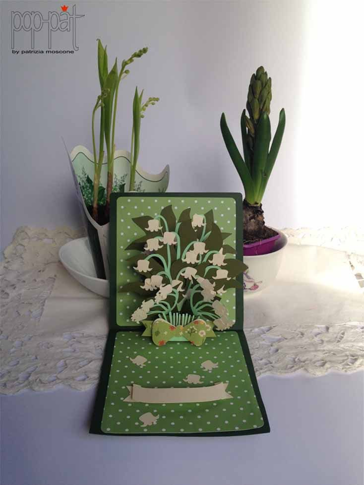 Lilies of the valley pop up by patriziamoscone on Etsy