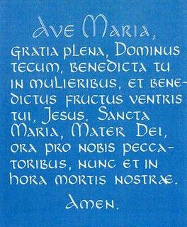Hail Mary in Latin, so beautiful.