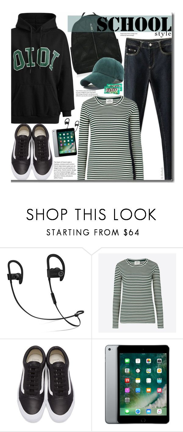 """""""School Style"""" by beebeely-look ❤ liked on Polyvore featuring OiOi, Mads Nørgaard, Vans, River Island, BackToSchool, stripes, schoolstyle, sammydress and Hoodies"""