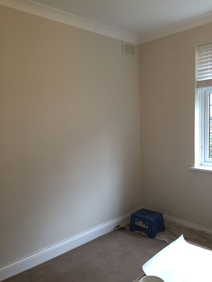 Guest bedroom painted - farrow and ball slipper satin