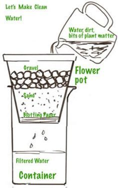 homemade water filter science project - Google Search
