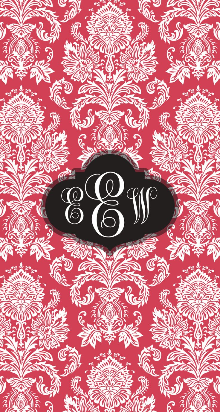 damask monogram wallpaper  monogram app