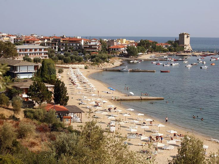 Panoramic view of Ouranoupoli #Halkidiki #Greece #Travel