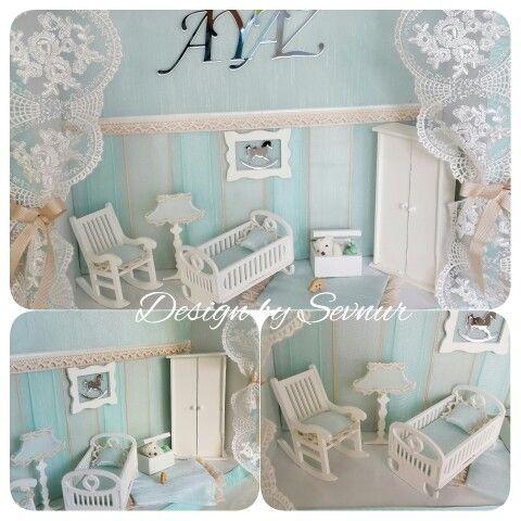 Instagram/facebook:designbysevnur Minyatür bebek odası Kapı süsü ...