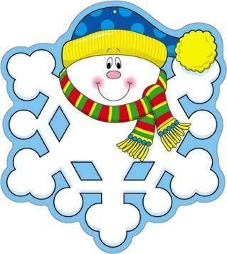 WINTER SNOWMAN SNOWFLAKE CLIP ART