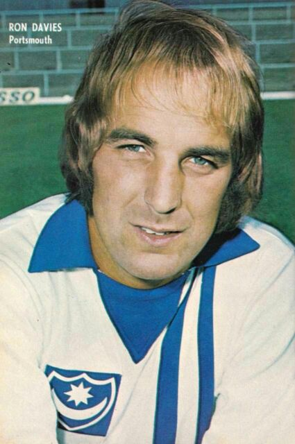 Ron Davies of Portsmouth in 1974.