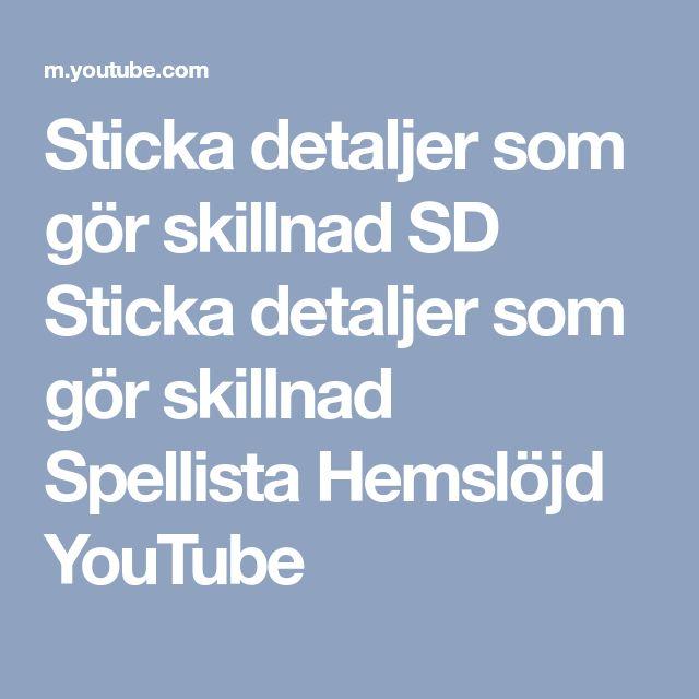 Sticka detaljer som gör skillnad SD  Sticka detaljer som gör skillnad Spellista Hemslöjd YouTube