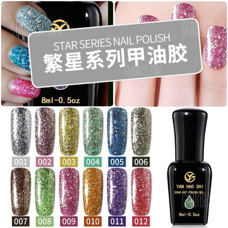 Nail Stars Platinum Nail Polish Laser Light Treatment Sequins Gradient Color Glue Super Flash Diamon