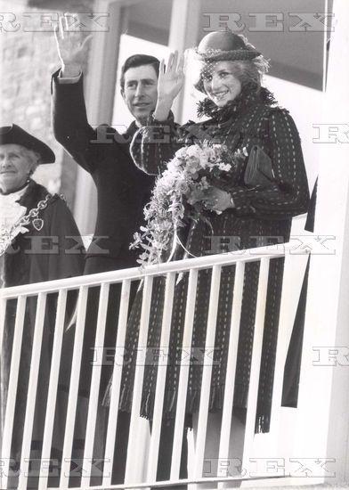 November 26 1982 Charles & Diana Princess  Together Visit Wrexham Guildhall