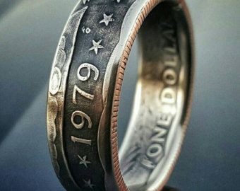 Susan B Anthony Dollar Coin Ring tails out by TheRingTree on Etsy