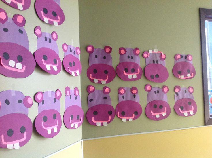 Hippo preschool activity - Fine motor (cutting/gluing)