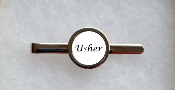 Personalised Wedding Usher Tie Clip - can be fully personalised by ArtyAlphabet on Etsy