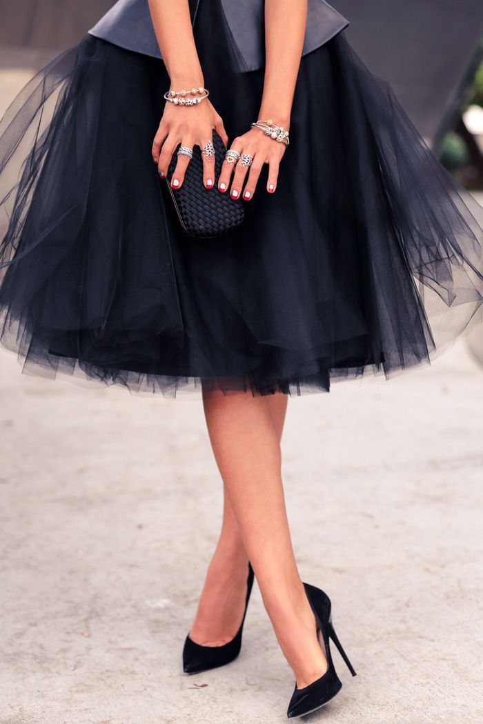 tulle skirt + a LuxxieBoston bustier cami = perfection