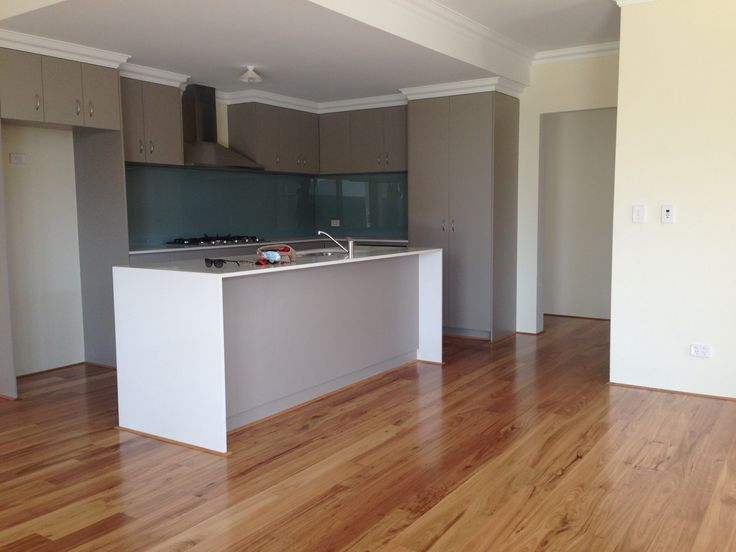 Neutral kitchen with blackbutt flooring