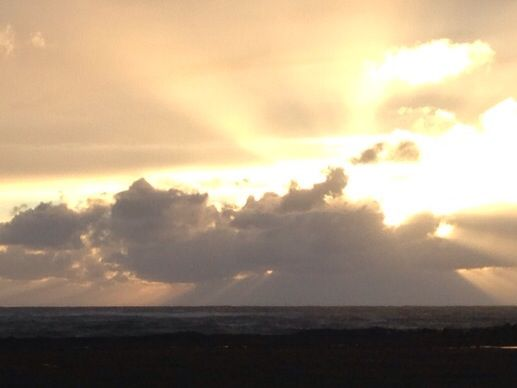 Hebridean sunset away to the westward