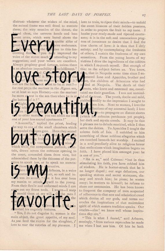 My favorite love story.
