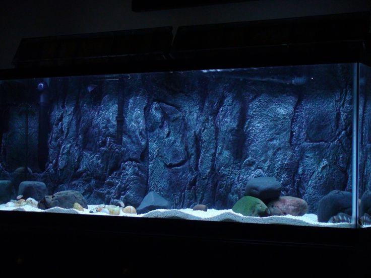 Diy 3d aquarium background dsc01245 300x225 installing a for Diy fish tank decor