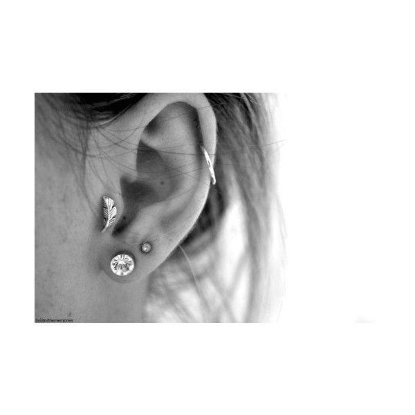 ear piercings | Tumblr ❤ liked on Polyvore