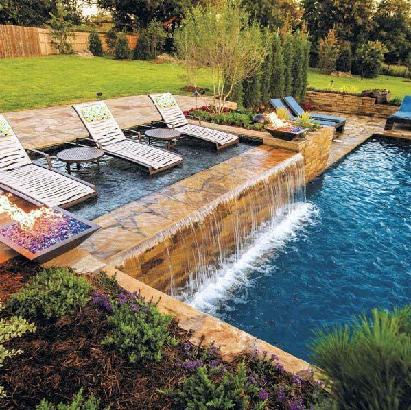 21 Best Swimming Pool Designs Beautiful Cool Designs Modern Pool Swimming Swimming Pools Backyard Pool Waterfall Cool Swimming Pools