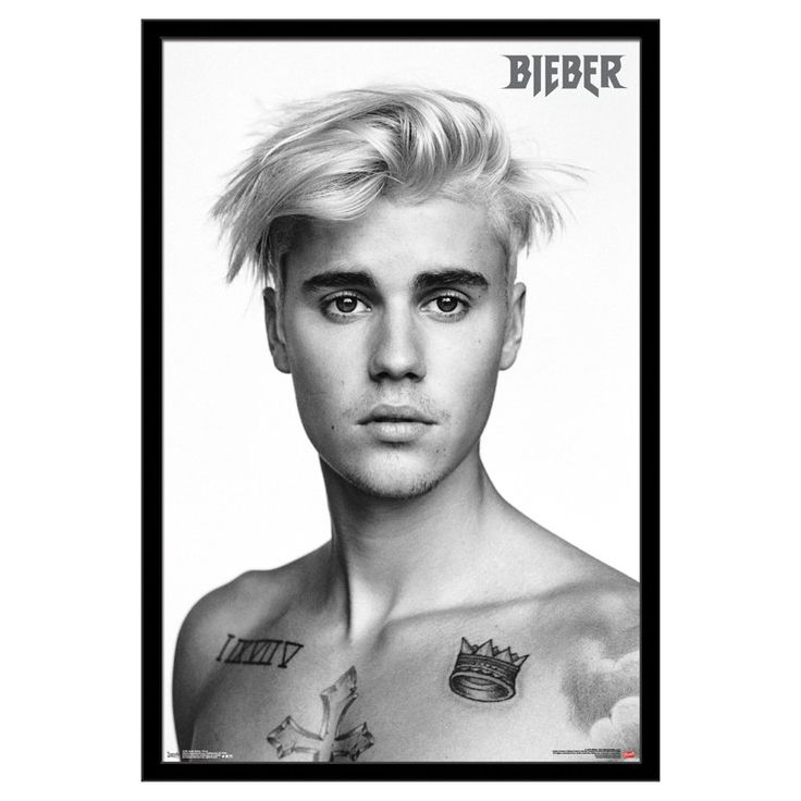 Trends International Justin Bieber Pinup Poster - FR15289BLK22X34