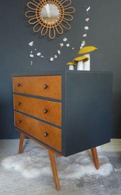 les 25 meilleures id es de la cat gorie meuble vintage sur pinterest meubles mid century. Black Bedroom Furniture Sets. Home Design Ideas
