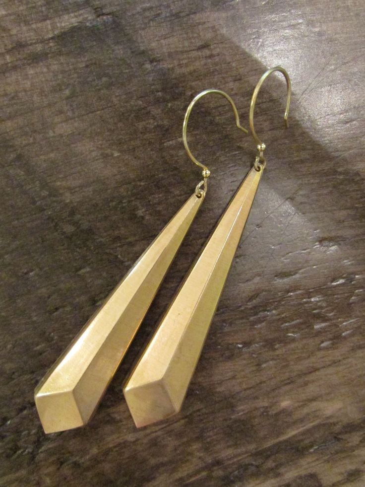 Geometric Dramatic Drop Earrings