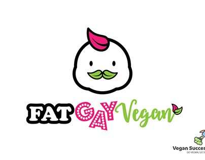"""Check out new work on my @Behance portfolio: """"Fat Gay Vegan logo concept"""" http://be.net/gallery/58236365/Fat-Gay-Vegan-logo-concept"""