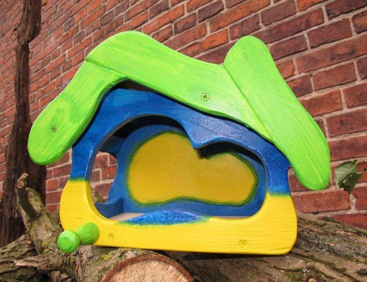 Vogelhaus bunt, Futterhaus bunt,  Vogelvilla von Spatzentraum auf DaWanda.com