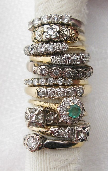 Vintage stack rings people places fashion style i Vintage style fashion rings