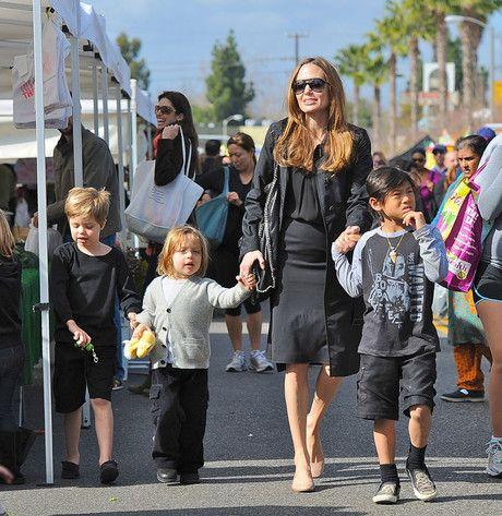 Angelina Jolie, Brad Pitt & Pax from Brad & Angelina Family Album | E! Online
