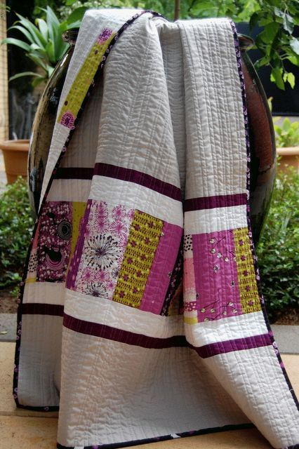 5/29 Eggplant... Love this quilt made by Kate Conklin