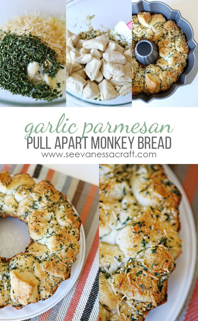 Pull Apart Garlic Parmesan Savory Monkey Bread Recipe